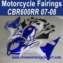Special Design For Honda CBR600RR 07 08 White Blue Fairings FFKHD009