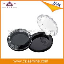 round shape lace cap delicate empty pressed powder case