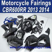Classic Design For Honda CBR600RR 2013 2014 All Gloss Black Motorcycle Fairing Kit FFKHD036