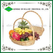 Wholesale decorative oval wicker ikea empty hanging fruit basket