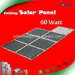 Top selling! 60W laptop solar charging folding solar panel 18v