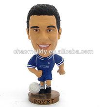 Handmade custom resin Poyet football action figures