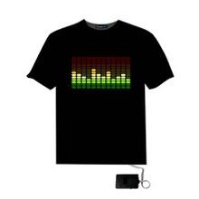 Sound Activated Flashing Led El T Shirt