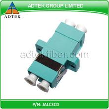 LC/PC OM3 Aqua color fiber optic coupler