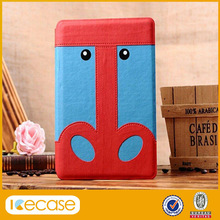 2014 New Arrival Super Cute Minion Despicable Me Leather Case for iPad Mini With Stand Flip Cover Case Skin