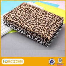 Leopard Animal Print Premium PU Leather Wallet Case for Mini iPad