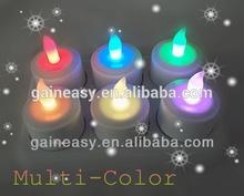 decorative mini pillar multicolor electric led tea lights for bar/wedding/party