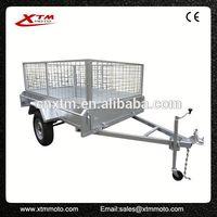 Double axle low bed swivel wheel trailer for sale