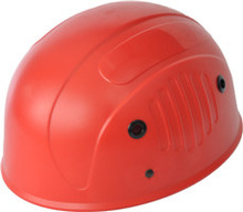 red construction safety helmet with ABS material shell