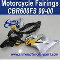 fábrica de venta directa para honda cbr600fs 99 00 negro plata de motocicleta kit carenado ffkhd004