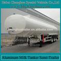 Combustível/petróleo/alimentos líquidos alumínio semi reboque tanque com jantes de alumínio, fuwa eixo