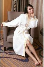 100% polyester coral fleece women robe embroidered Sleepwear plush Robe lady Bathrobe
