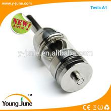 Newest design air flow control tesla a1 atomizer,which can suit with 26650 mod,tesla mod vaporizer tesla A1 atomizer