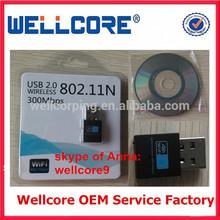 Hot Sale ! China Mini 300Mbps USB WiFi Adapter/ Wireless Network Card, Mini USB WiFi Dongle !