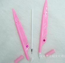wholesale cheap price plastic feather shape ballpoint pen