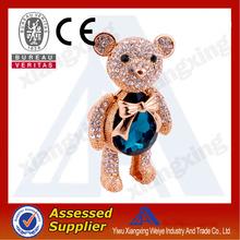 Fashion rhinestone teddy bear keychain
