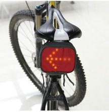 Bike Saddle Bag with Led Lighting Indicator Turn Signals for Bicycle/Motorbike