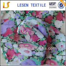 Lesen Textile big flower print chiffon dress fabric