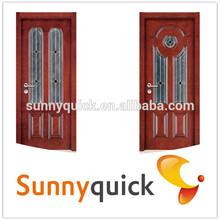 2014 New design good quality low price interior decoration wooden flush door swing/ sliding inner pvc bathroom doors