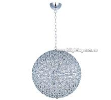 Fancy crystal ball pendant light led