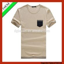 High quality wholesale fashion o-neck t-shirt new model mens t-shirt 2014