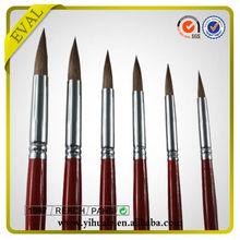 Professional Round Shape Nylon Synthetic Artist Brush in Stock