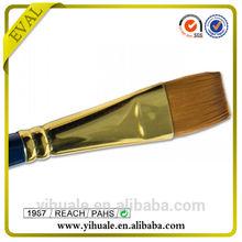Professional Flat Shape Nylon Synthetic Artist Brush In Stock