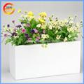 Modern style suqare indoor plant holders, fiberglass wood pots