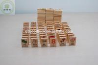 Custom graphic teaching handy graphic wooden block