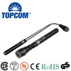 3 led aluminum flexible torch magnetic extending flashlight