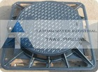 TAW EN124 C250 anti theft square decorative manhole cover