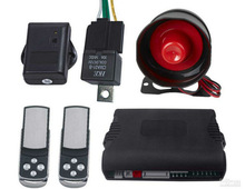 GPS gps gsm car alarm with central lock GPS206 with English/ Spanish voice operation menu
