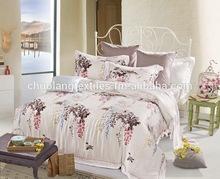 100% tencel printed duvet cover set with pillowcase,duvet cover