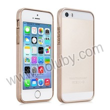 HOCO Fashion Series Slim Real Genuine Leather +PC Bumper Case for iPhone 5 5S