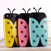 Korean 3D Van.D Lighting Bug beetles Case For iphone 5 5S 5G Flashing 3D Ladybird Hybrid TPU PC Hard Cover