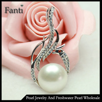 Charm jewelry phoenix bird silver freshwater pearl design