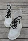 Black lace clear PVC short Martin rain boots,transparent martin shoes
