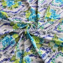 100D gasa de la impresión Digital Spandex tela para la señora vestidos con la tela vintage