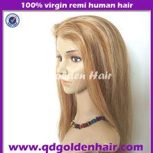 Golden Hair High Quality Remy Human Hair Long Natural Mixed Grey Wig