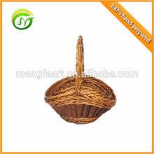 Very popular wicker & woodchip flower basket
