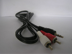 FENFEI stereo RCA plug to 2RCA sockets cable made in china