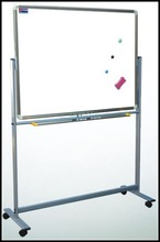 YDB-001 120*240cm Moveable revolve conference aluminum double side white board fancy white boards