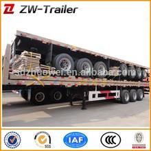 3 axle side wall open / column board semi trailer