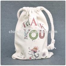 New organic cotton Drawstring Shoe Bag