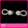 rhinestone shoe buckle in pair with hoop and loop
