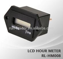 LCD HOUR METER VOLATILE MEMORY NO BATTERY