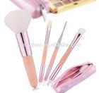 High Quality Pink Make up brush set Pink Travel Brush Set