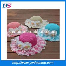 wholesale lace flower children beach straw hats MZ1072