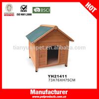 Outside large wooden dog house,large wooden dog house