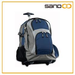 2015 travel trolley rolling backpack, retro men business wheel bag